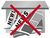 新聞の留守止めのイメージ