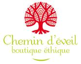 """Logo Boutique Ethique """"Le Chemin d'éveil"""" Roche-Bernard (56)"""