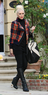 Gwen Stefani check jacket