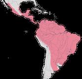 Karte zur Verbreitung der Töpfervögel