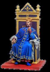 Le roi de France, Philippe IV le Bel - 5 octobre 1285 – 29 novembre 1314.