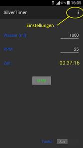 SilverTimer App Funktion 01