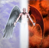 ange démon la dualité l'homme partagé entre deux
