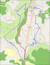 Le Tour du Vallon en Vélo ------------------- extrait OpenStreetMap.org
