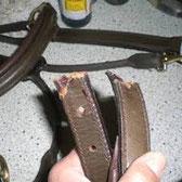 Lederleine kaputt Reparatur Hundeleine Leder