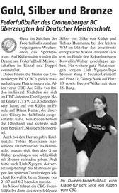 Cronenberger Woche Bericht vom 30.11.2007 DM