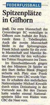 Westdeutsche Zeitung Bericht vom 11.04.2003