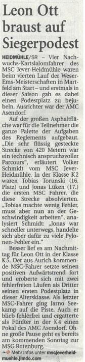 Nordwest Zeitung 23.05.2017