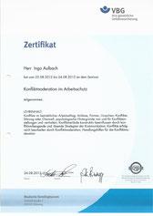 Zertifikat Konfliktmoderation