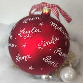 XXL-Weihnachtskugel mit Namen handbeschriftet
