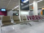 始発だったので人がいない空港・・・。