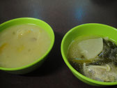 酢ッぱ辛い味のスープ