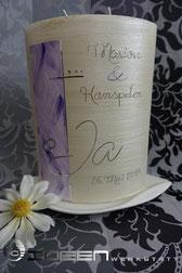 Kerze Hochzeit lila