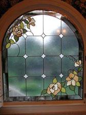 お花のステンドグラス