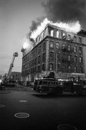 Fire at 800 Fox Street in '84 by Ricky Flores