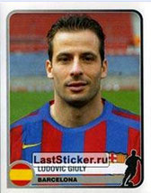 N° 071 - Ludovic GIULY (2005-06, Barcelone, ESP > 2008-11, PSG)