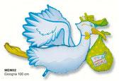 palloncino cicogna azzurro