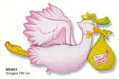 palloncino cicogna rosa