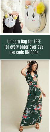 Free Unicorn Bag with orders over $25