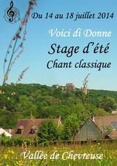"""Stage d'été 2014 """"Voici di Donne"""""""