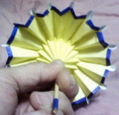 折り紙の傘の裏