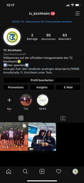 Der TCK auf Instagram...