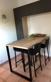 cuisine intérieur design toulouse cuisine shroeder gris béton zt bois avec dekton tendance moderne et contemporaine coin repas