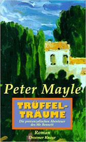 Trüffelträume   ein entspannendes, unterhaltsames Buch mit Schauplatz Provence. Eine Mischung aus Krimi (oder Gangsterkomödie) und zarter Liebesgeschichte, voll sprühender Einfälle, wie etwa dem Kloster der Baccus-Brüder.  Ein Krimi wie ich sie liebe, tur