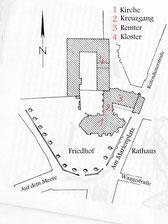 Grundriss des Klosters