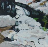 Glut 2014 30 x 30 cm Öl / Leinwand