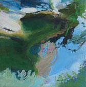 Bach in Dolcedo 2014 30 x 30 cm Öl / Leinwand