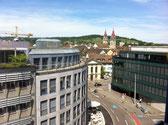 Blick von unserem Büro in die Altstadt Winterthur