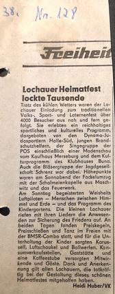 Zeitungsbericht von 1983