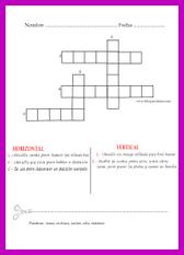 Crucigramas para niños, niñas, padres, madres, abuelos, tíos.... para todos y todas
