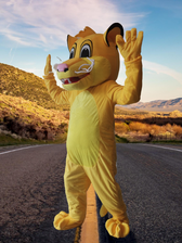 animation Mascotte Simba le roi lion