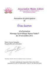 Diplome massage Kansou