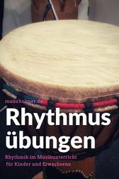 Rhythmusübungen Musikunterricht Kinder und Erwachsene