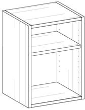 room³ Regal oder Nachttisch mit Tablar