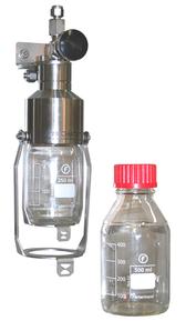Liquid sampling on-off valve - On-off liquid sampler - Liquid Sampler on-off configuration - Mechatest Bottle Sampler type MBS-A1
