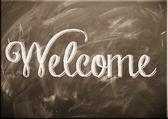 Schild Welcome
