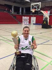 Stephanie Altmeier nach dem Gewinn der DM