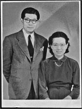 1943年 結婚直後