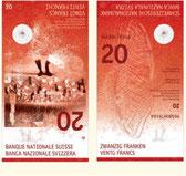 Neue 20er-Note, Banknote Schweiz