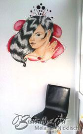 Wandgestaltung, Wandmalerei im Nagelstudio und in Geschaeftraeumen