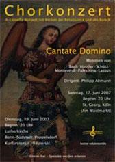 Konzertplakat Cantate Domino