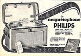 Magnétophone Philips années 50