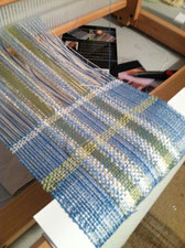 On the loom this weekend.