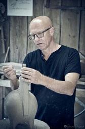 Dominique Pouchain, céramique, sculpture, sculpture animaliere, chevre en terre cuite, chèvre, sculpture chèvre, style années 60, poterie, poterie style 50