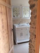 Badmöbel Landhaus - rustikaler Waschtisch