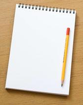 Bleistift auf weißem Ringblock